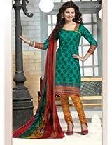 Saara Green And Yellow Printed Dress Material - 144D4054