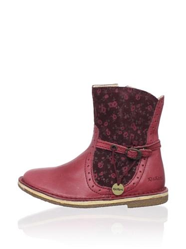 Kickers Kid's Feerique Short Boot (Toddler/Little Kid) (Burgundy)