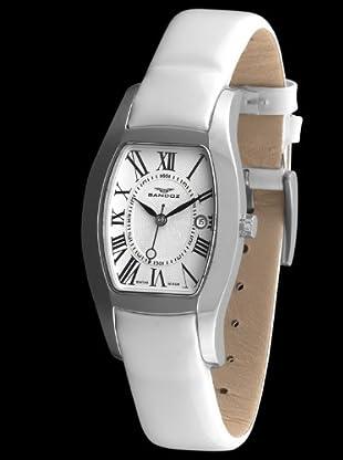 Sandoz 72556-00 - Reloj de Señora con indicador de fecha blanco
