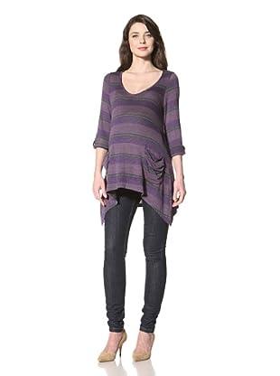 NOM Women's Stripe Tunic (Purple)