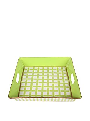 Jayes Basketweave Square Tray, Green