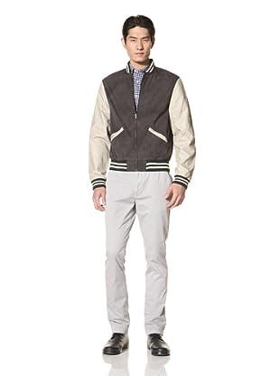 Just a Cheap Shirt Men's Baseball Jacket (Black/Grey)