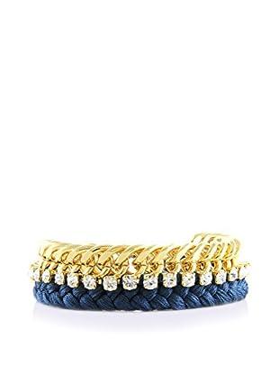 Ettika 18K Gold-Plated & Denim Pampered Princess Bracelet