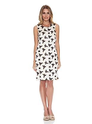 Monoplaza Vestido Aliz (Blanco / Negro)