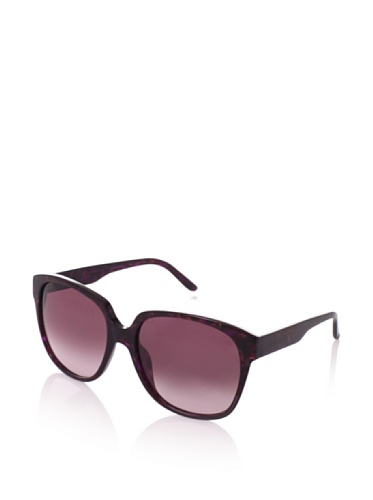 Theory Women's TH2132 Sunglasses, Dark Cherry