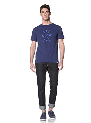 Two Thirds Men's Icon Pwyl Tee (Navy blue)