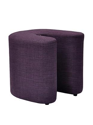 International Design USA U-Shaped Ottoman, Purple