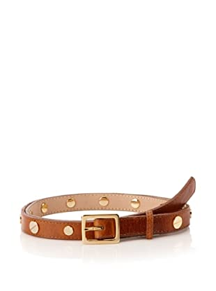 Be&D Women's Skinny Punk Leather Belt (Brown)