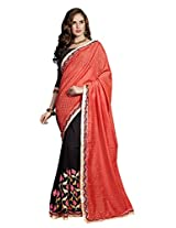 Exclusive red and black Jacquard saree - SBZ51003B