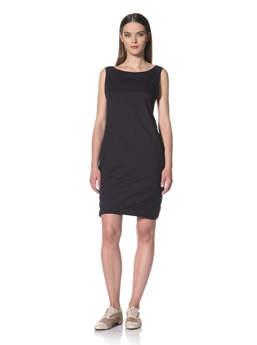 JIL SANDER NAVY Women's Sleeveless Cotton Volume Dress (Navy)