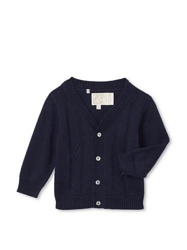 Emile et Rose Baby Boy's True Knit Cardigan (Navy)