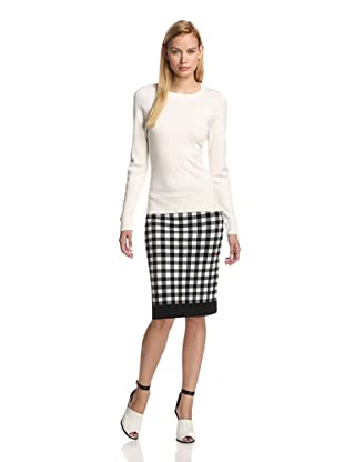 DEREK LAM Women's Long Sleeve Sweater (Ivory)