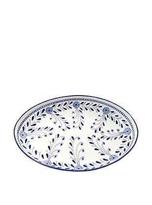 Le Souk Ceramique Azoura Poultry Platter, Blue/White