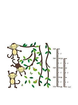 Ambiance Live Wandtattoo Tree, monkeys and birds (Kidmeter)