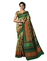 De Marca Multi-Coloured Raw Silk A2431 Saree