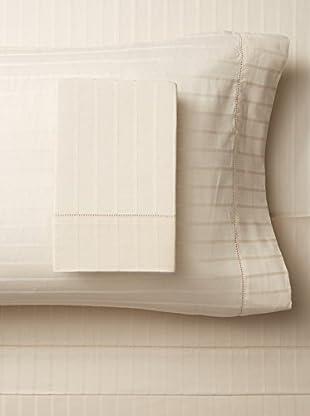 Bambeco 400 TC Organic Sheet Set Sateen Stripe (Natural)