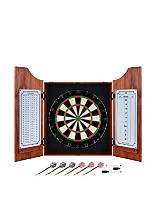 Trademark Pro Style Beveled Wood Dart Cabinet Set