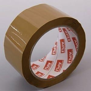 【クリックで詳細表示】【APLI】梱包用PPブラウンテープ 48×66mm (AP-11593)
