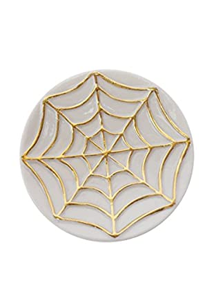 Waylande Gregory Spider Small Bullet Bowl, White/Gold