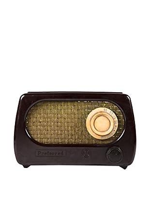 1930s Vintage Preferred Radio, Brown/Gold/Ivory