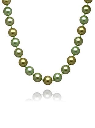 Perldor 60650031 - Collar de mujer de plata de ley con perla natural Verde 45 cm