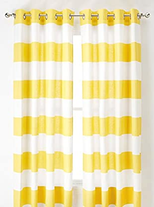 Nautica Cabana Stripe Curtain, Yellow