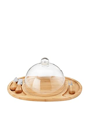 Core Bamboo Butler's Cheese Set with Glass Dome