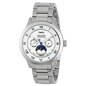 Timex E-Class Analog Silver Dial Men's Watch - T2N291