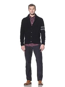 Benson Men's Cardigan Sweater (Navy)