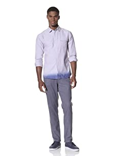SLDVR Men's Collins Button-Front Shirt (Light Blue)