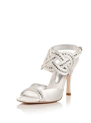Bourne Women's Tiffany Ankle Strap Sandal (Ivory)
