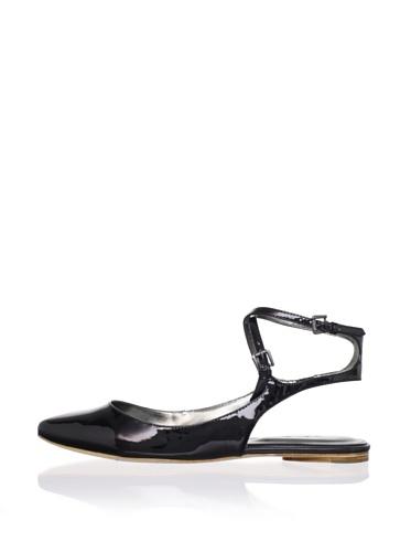 Belle by Sigerson Morrison Women's Verena Flat (Black Patent)