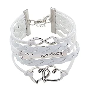 One Direction Leather Charm For Women -White