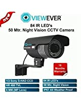 50Mtr Night Vision CCTV Camera 84IR LEDs (Weather Proof, 1/3 SONY CCD, 480TVL)