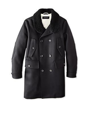 Gucci Men's Cappotto New Felt Coat (Black)