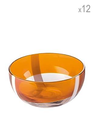Guzzini Set 12 Coppette Gelato Table Art 2 Arancio