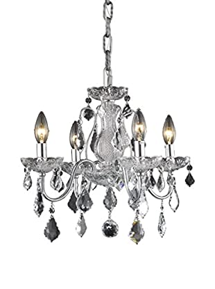 Crystal Lighting St. Francis 4-Light Chandelier, Chrome