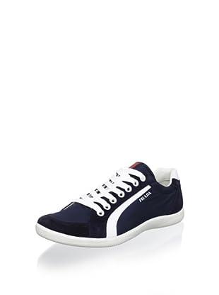 Prada Sport Men's 2-Tone Sneaker (Bleu)