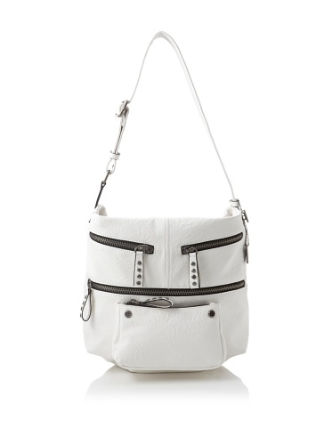 KDNY Women's Robertson Multi Pocket Hobo (White)