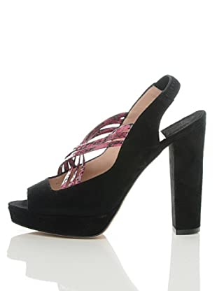 Furla Zapatos Greta (Negro / Fucsia)