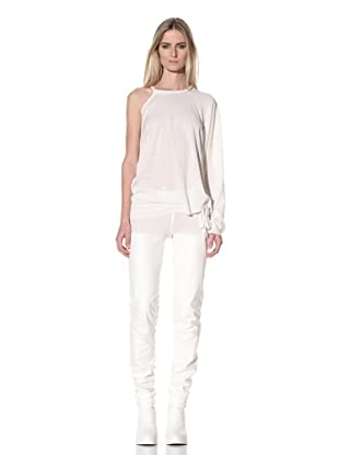 Ann Demeulemeester Women's Off-the-Shoulder Sweater (Off-White)