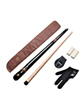 JBB combo 15(American pool cue metal joint 12mm,cue cover,chalk holder,glove n two tip caps)