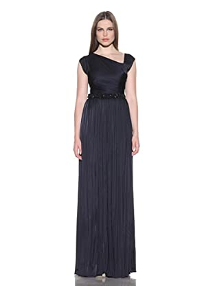 Doo.Ri Women's Ruched Gown with Beaded Waist (Navy)