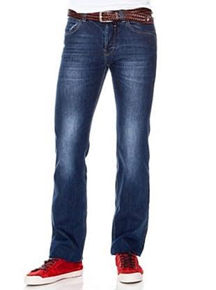Cortefiel Pantalón Boot Cutstone (Azul)