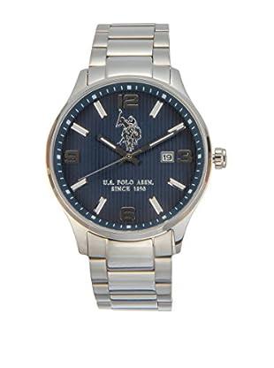 U.S. POLO ASSN. Uhr mit japanischem Quarzuhrwerk Herald silberfarben 44 mm
