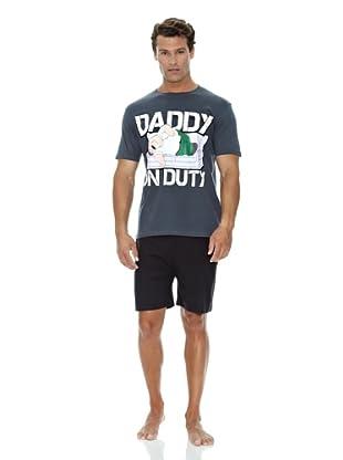 Licencias Pijama Family Guy Daddy (Antracita / Negro)