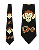 Monkey See Monkey Do Tie Men Neck Ties by Ralph Marlin
