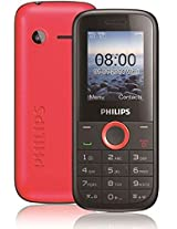 Philips E130 Red Mobile Phone
