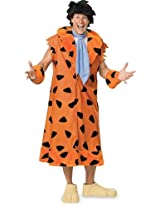 The Flintstones Fred Costume, Orange/Black,