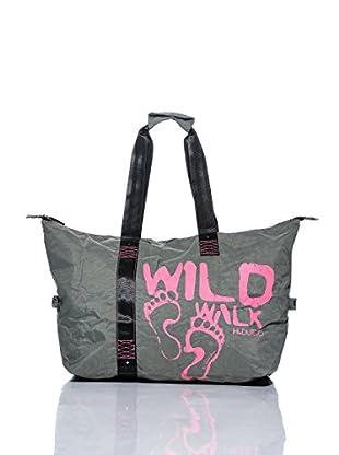 H.Due.O Borsa Wild Walk Grigio/Fucsia